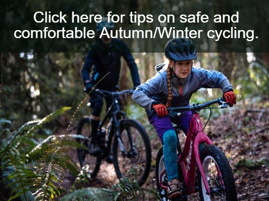 Autumn winter cycling